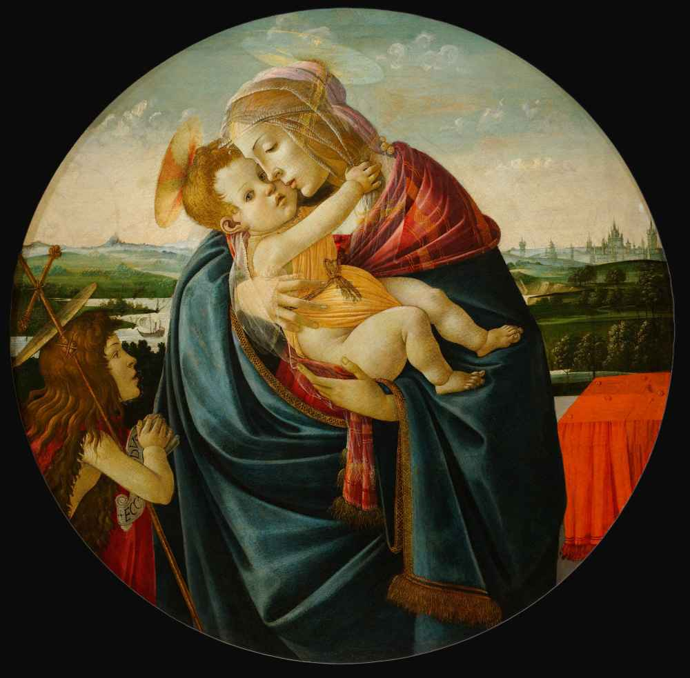 Virgin and Child with Saint John the Baptist - Sandro Botticelli