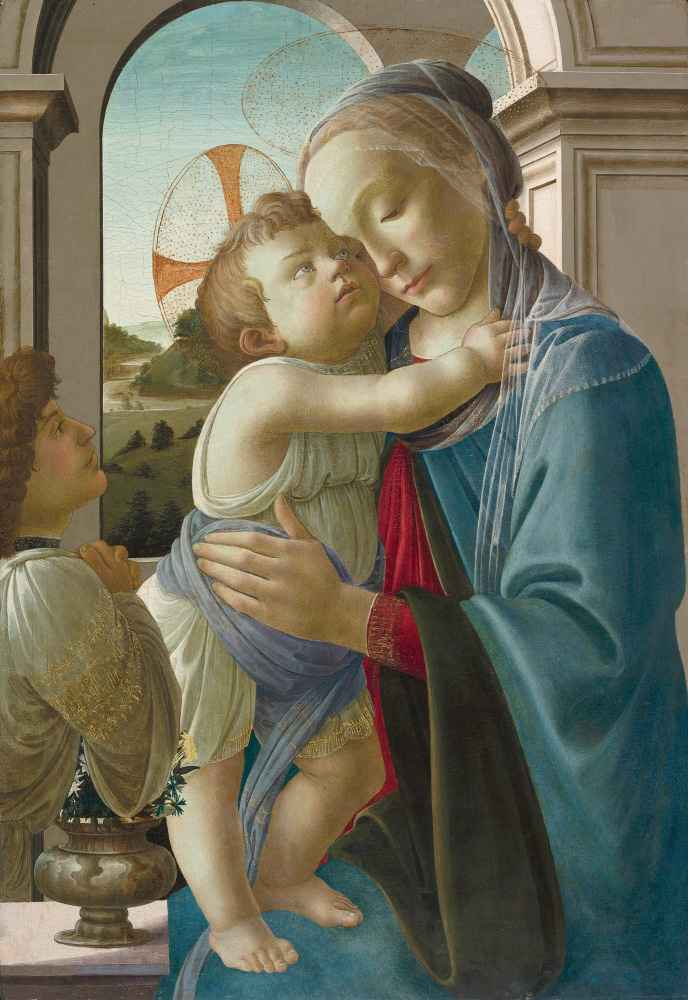 Virgin and Child with an Angel - Sandro Botticelli