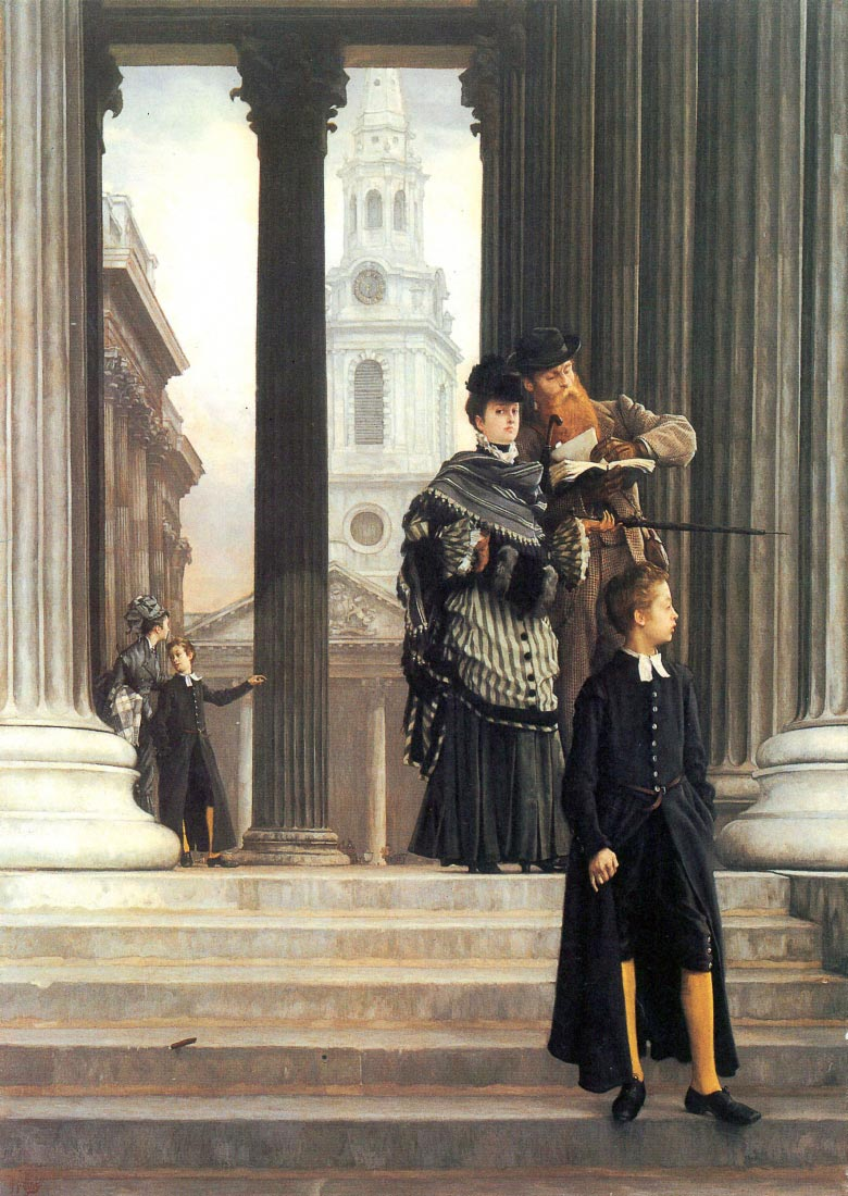 Visitors in London - Tissot
