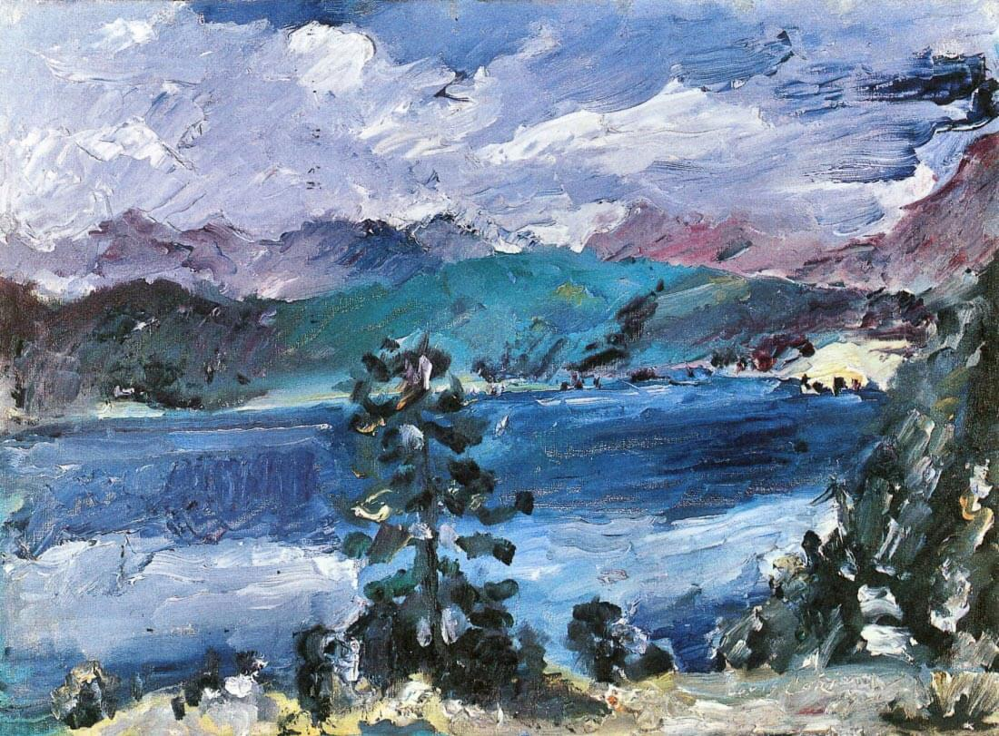 Walchensee with larch - Lovis Corinth