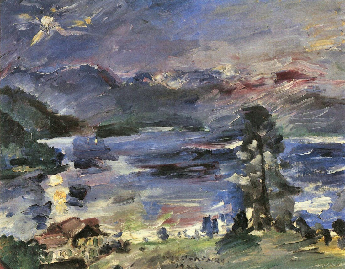 Walchensee with rising moon - Lovis Corinth