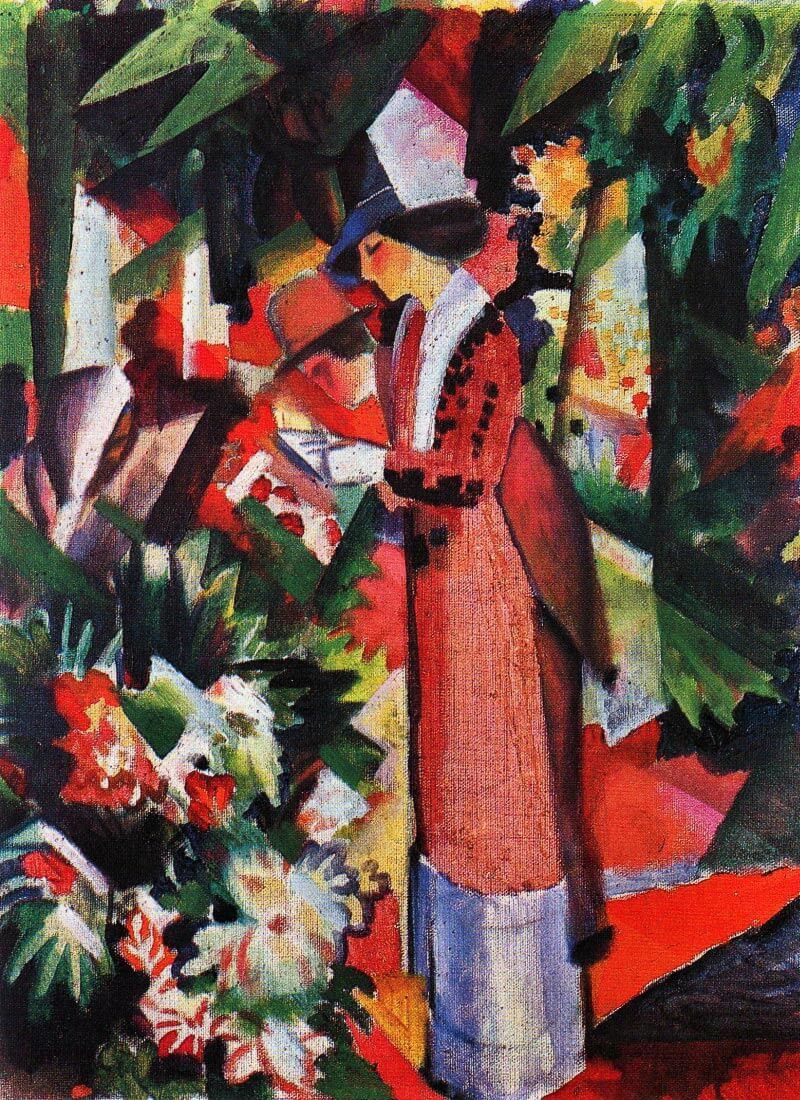 Walk in flowers - August Macke