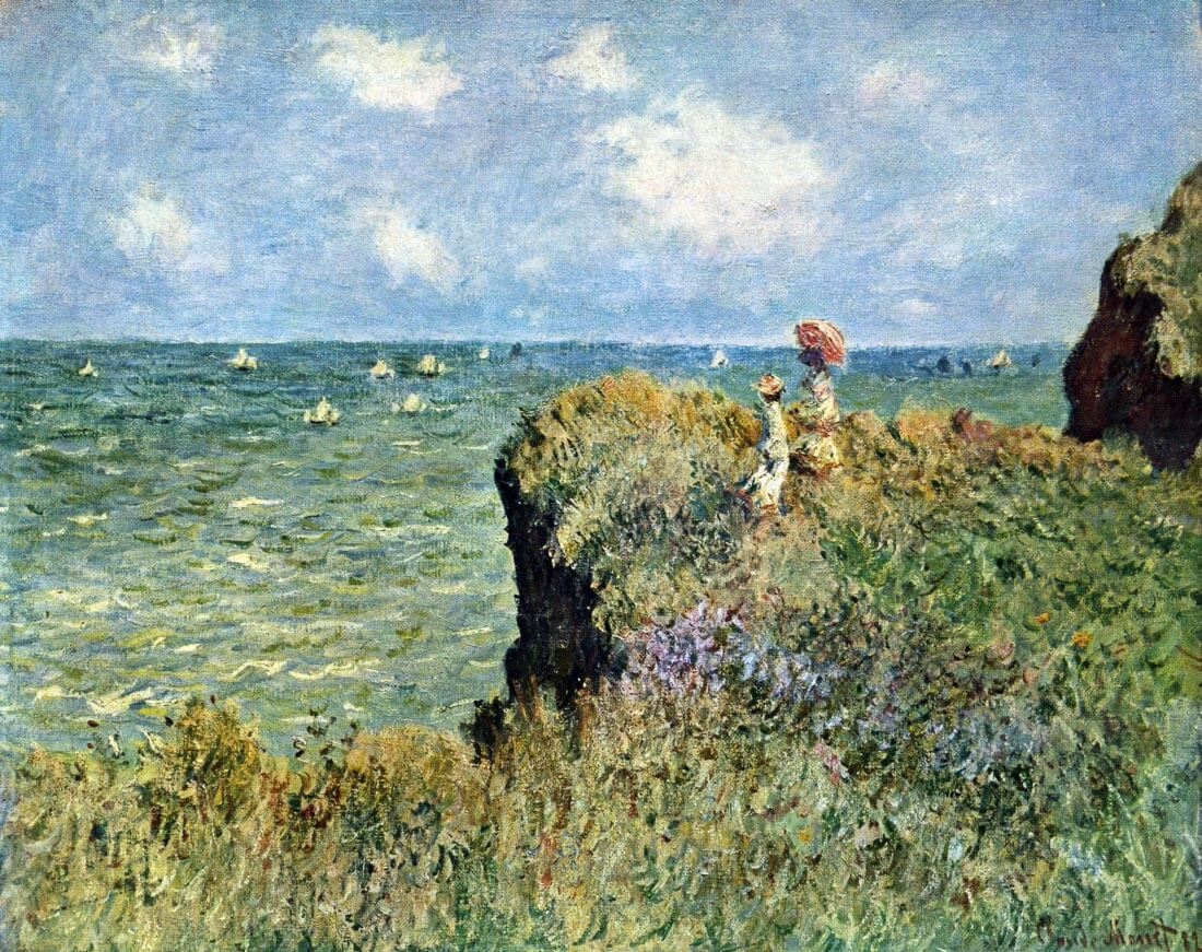 Walk on the cliffs - Monet