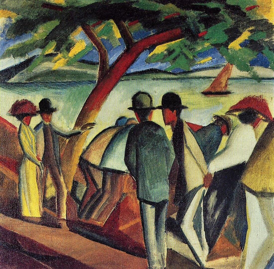 Walking at the lake I - August Macke