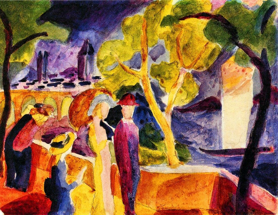 Walking at the lake - August Macke
