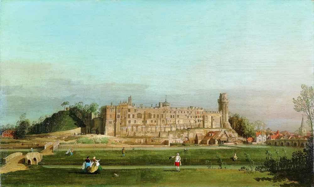 Warwick Castle 2 - Canaletto - Bernardo Bellotto