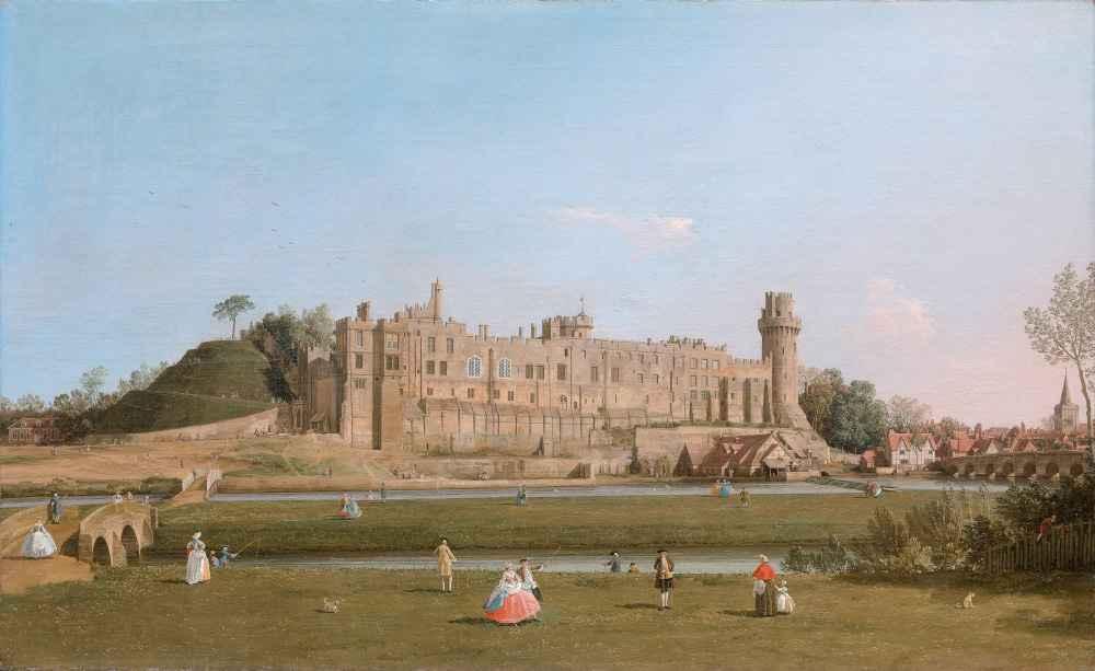Warwick Castle - Canaletto - Bernardo Bellotto