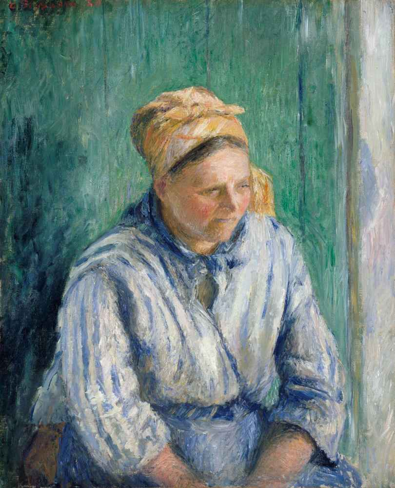 Washerwoman, Study - Camille Pissarro