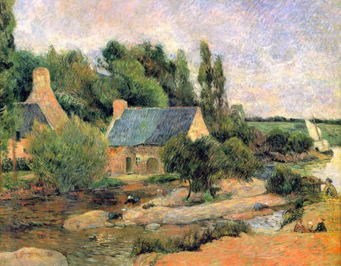 Washerwomen at Pont-Aven - Gauguin