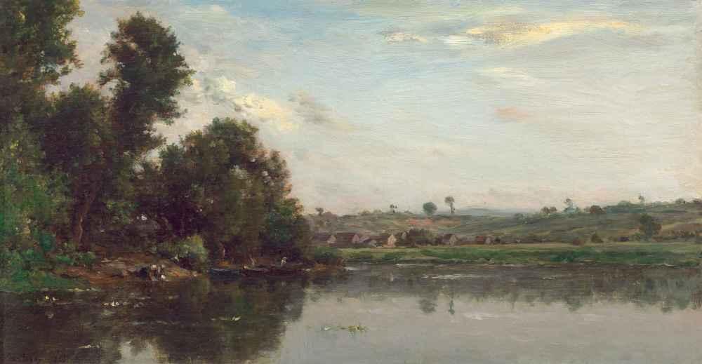 Washerwomen at the Oise River near Valmondois - Charles-Francois Daubi