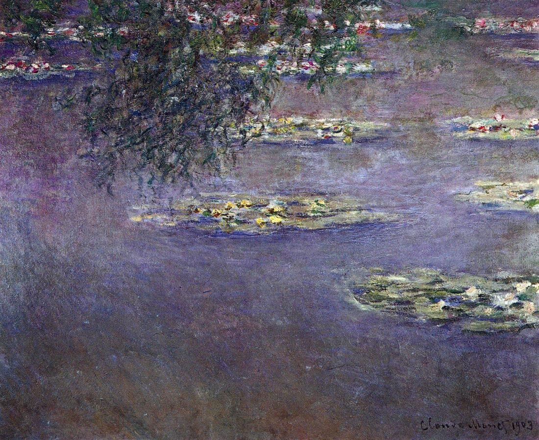 Water lilies, water landscape #1 - Monet