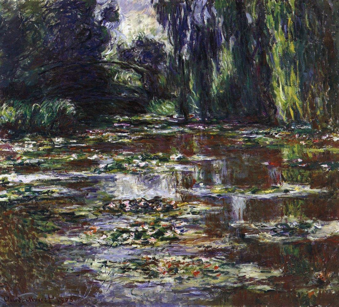 Water lilies, water landscape #3 - Monet