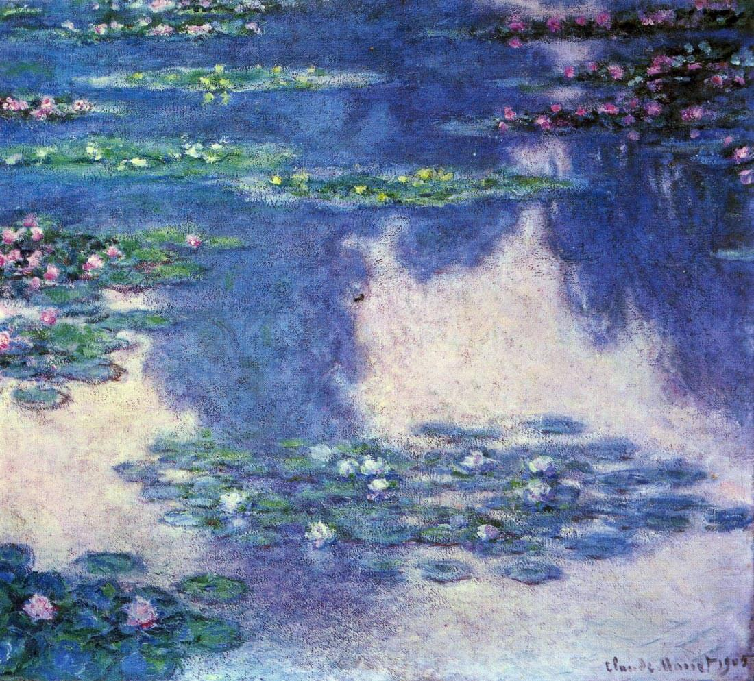 Water lilies, water landscape #4 - Monet