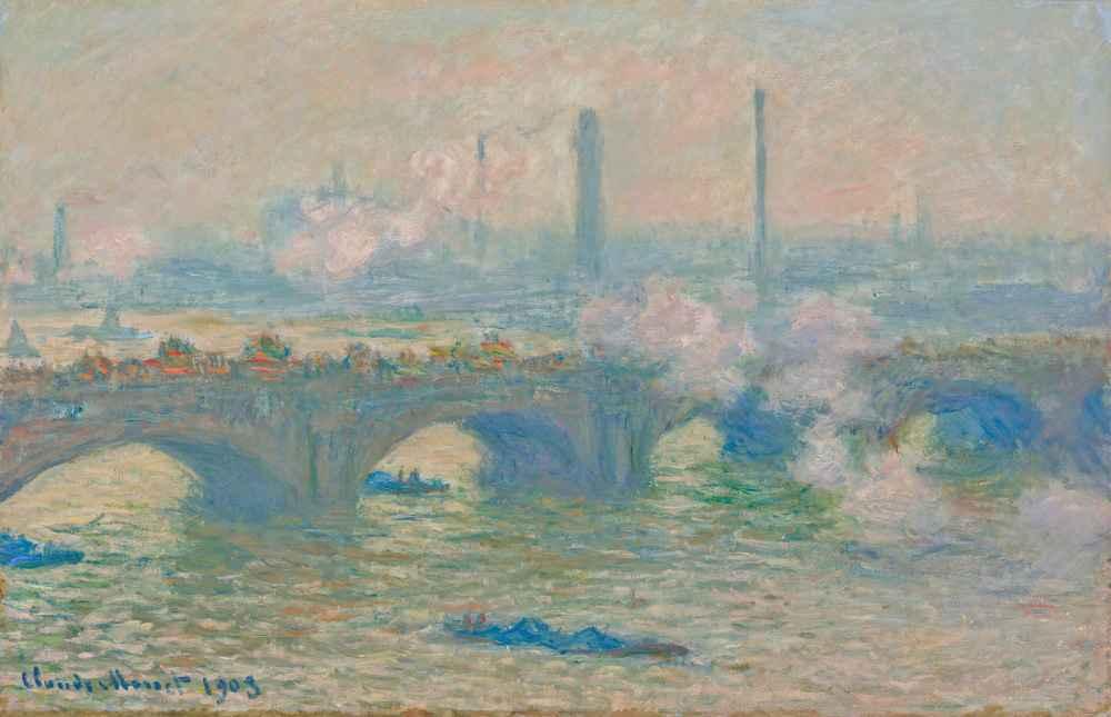 Waterloo Bridge, Gray Day - Claude Monet