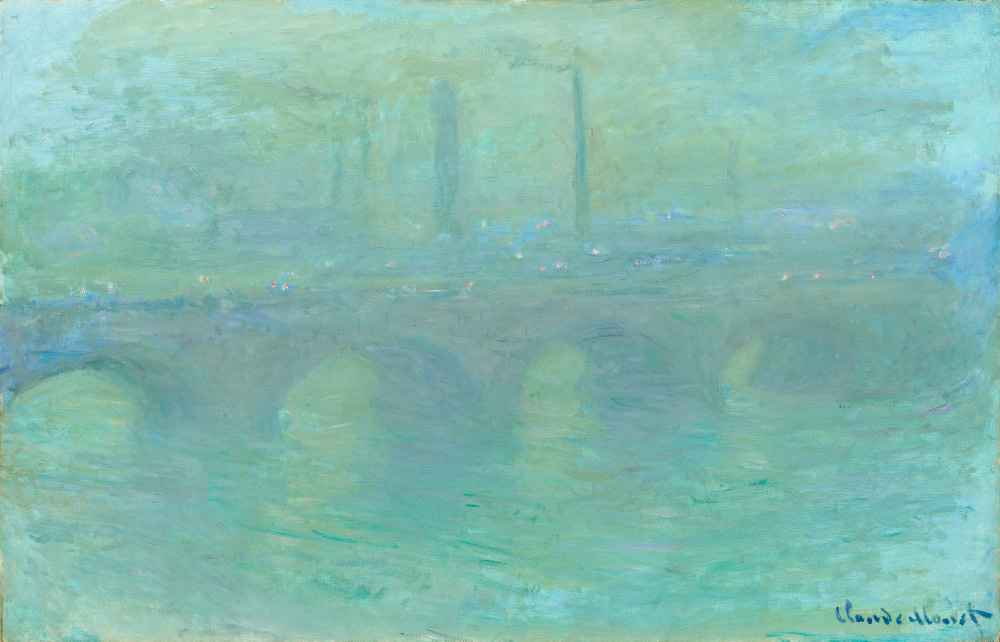 Waterloo Bridge, London, at Dusk - Claude Monet