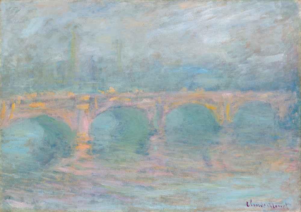 Waterloo Bridge, London, at Sunset - Claude Monet