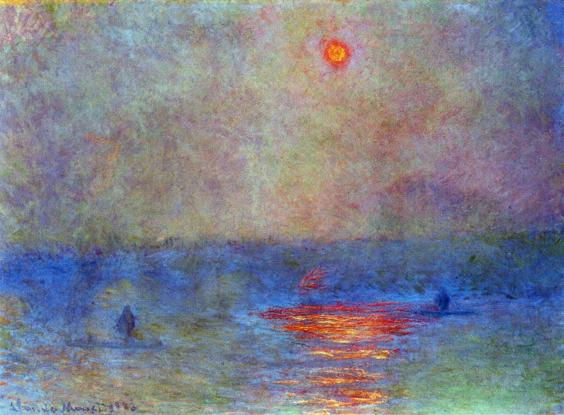 Waterloo Bridge, the sun in the fog - Monet