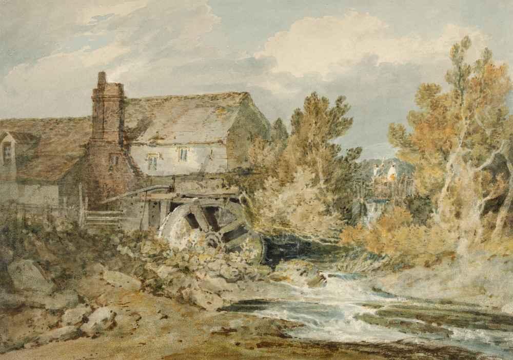 Watermill near a Flowing Brook - Joseph Mallord William Turner