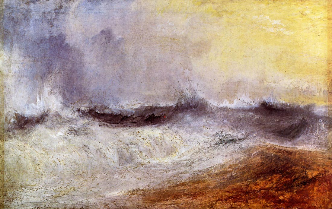 Waves breaking against the wind - Joseph Mallord Turner