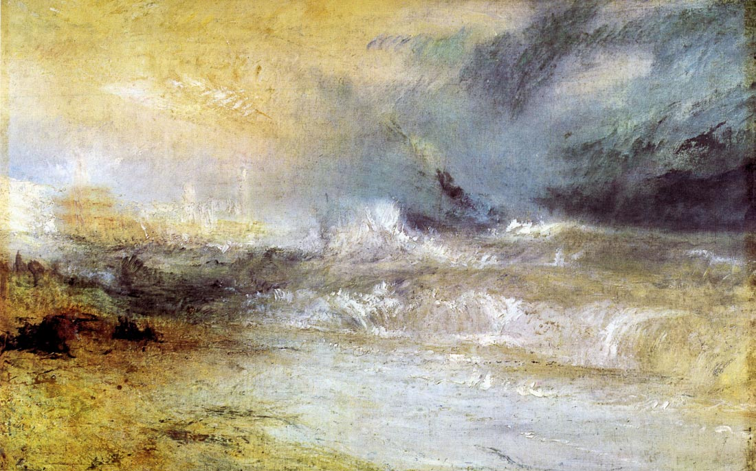 Waves breaking on a lee shore - Joseph Mallord Turner