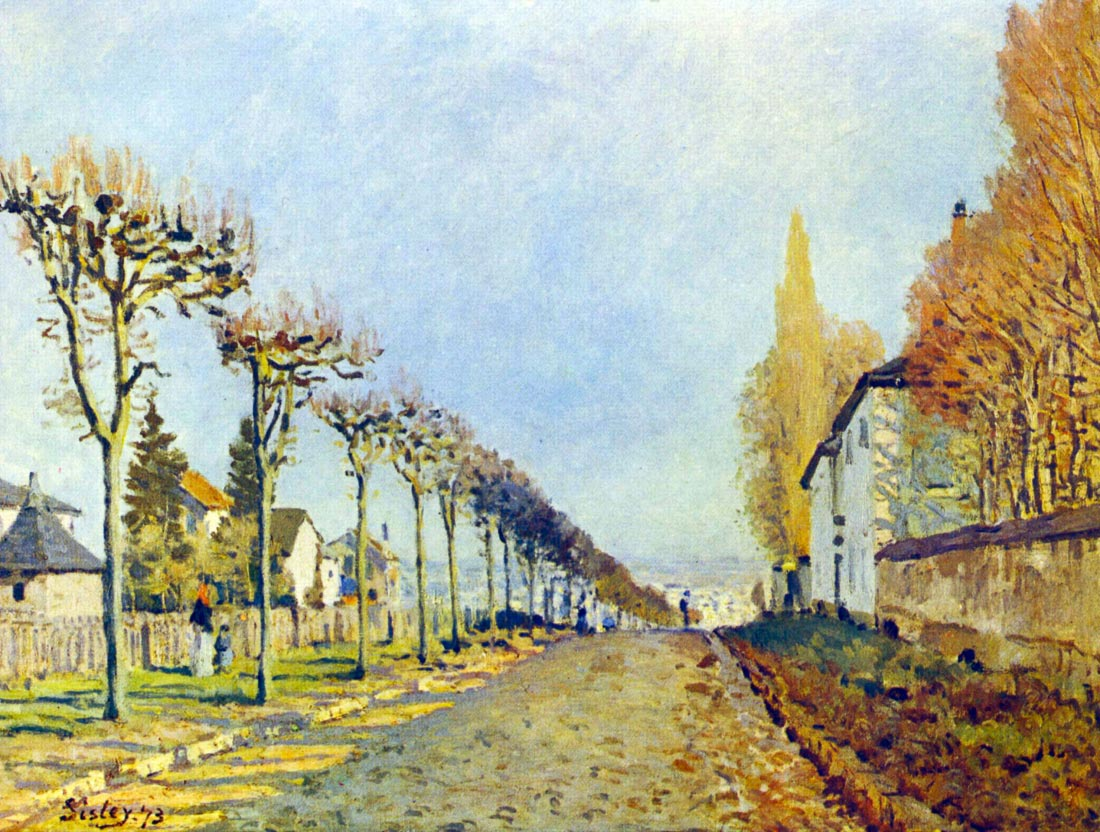 Way of the machine, at Louveciennes - Sisley