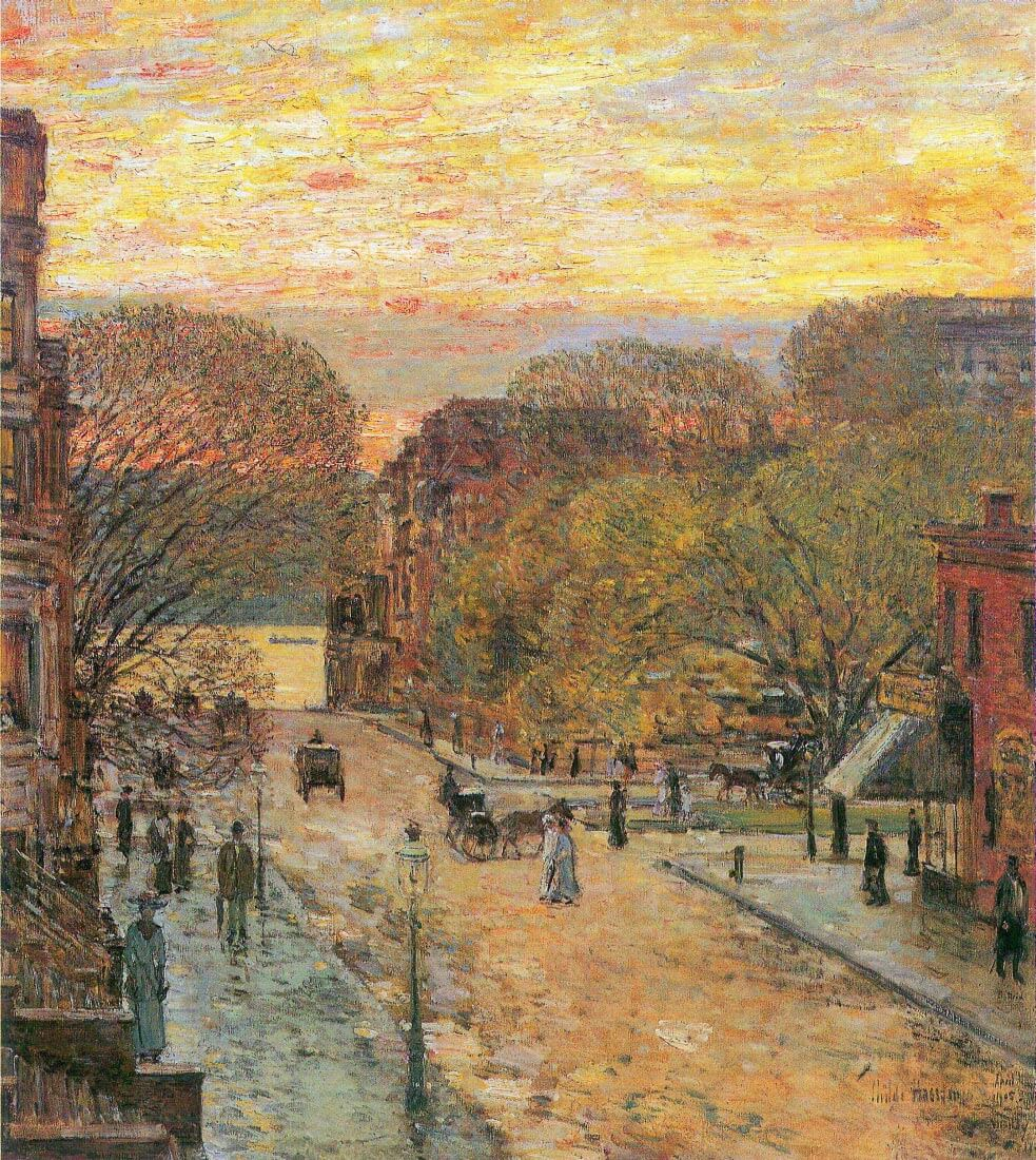 West 78th Street in Spring - Hassam