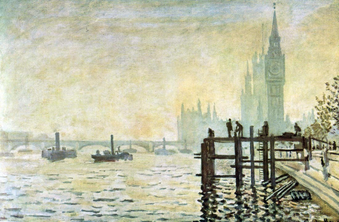 Westminster Bridge in London - Monet