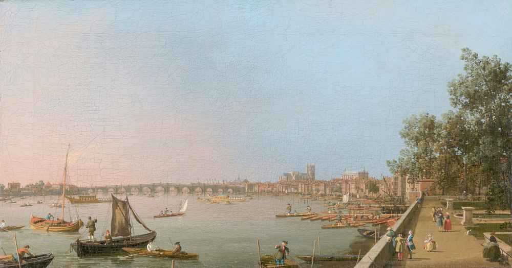 Westminster from Near the Terrace of Somerset House - Canaletto - Bern