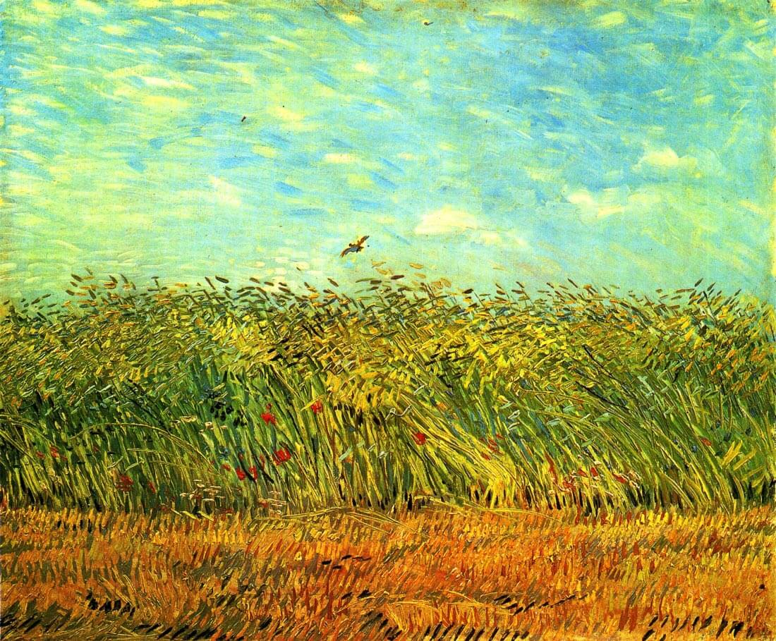 Wheat Field with a Lark - Van Gogh