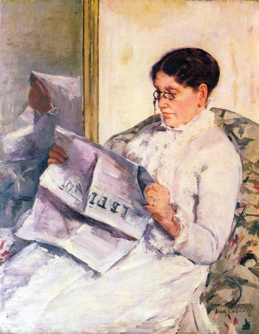 When reading of Figaro - Cassatt
