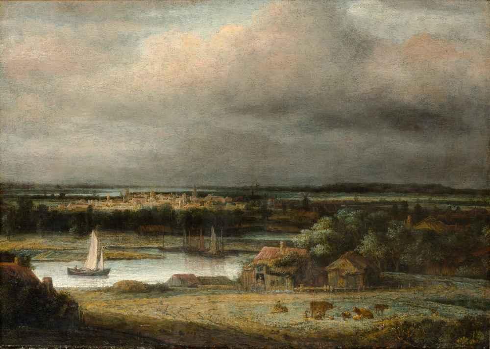 Wide River Landscape - Philips Koninck
