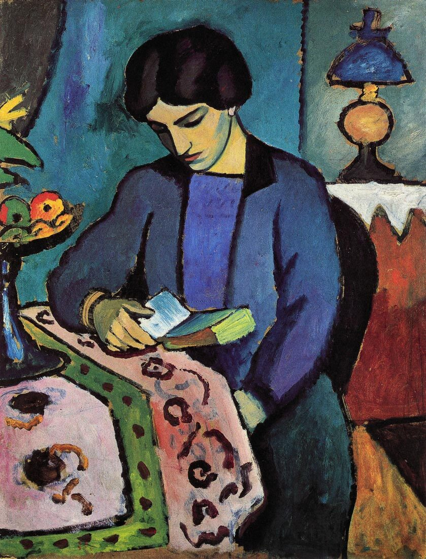 Wife of the artist - August Macke