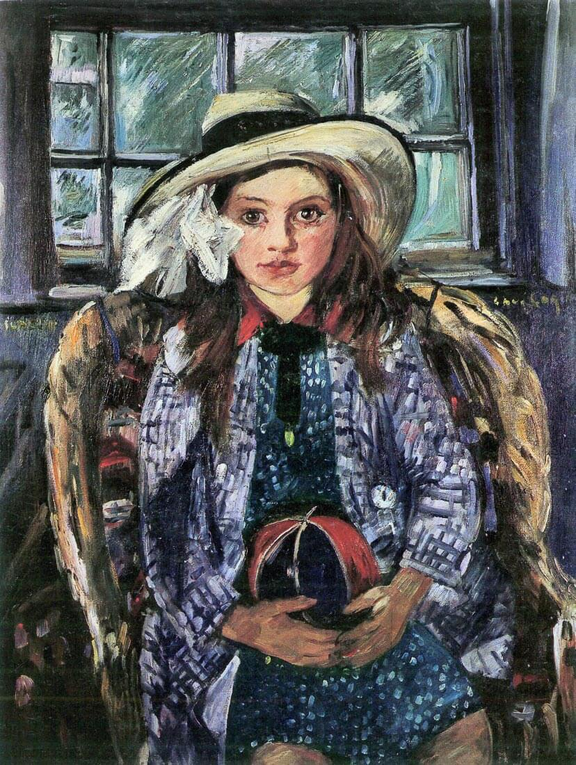 Wilhelmina with ball - Lovis Corinth
