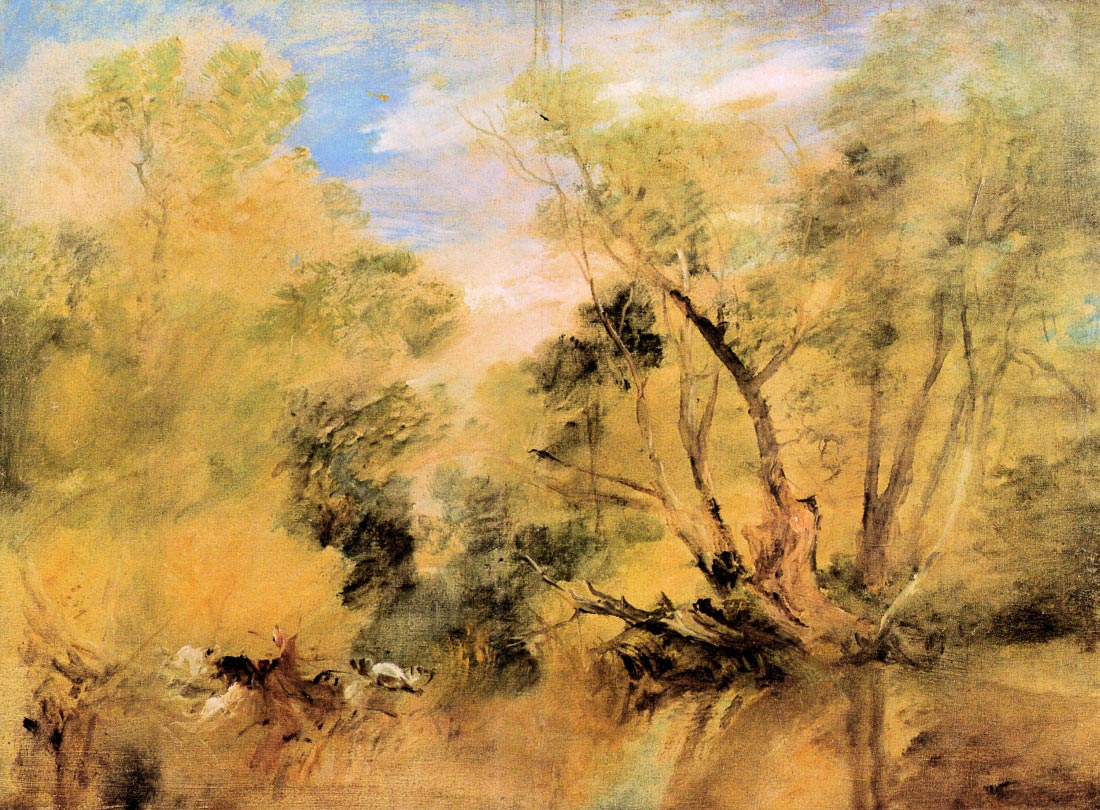 Willows beside a stream - Joseph Mallord Turner