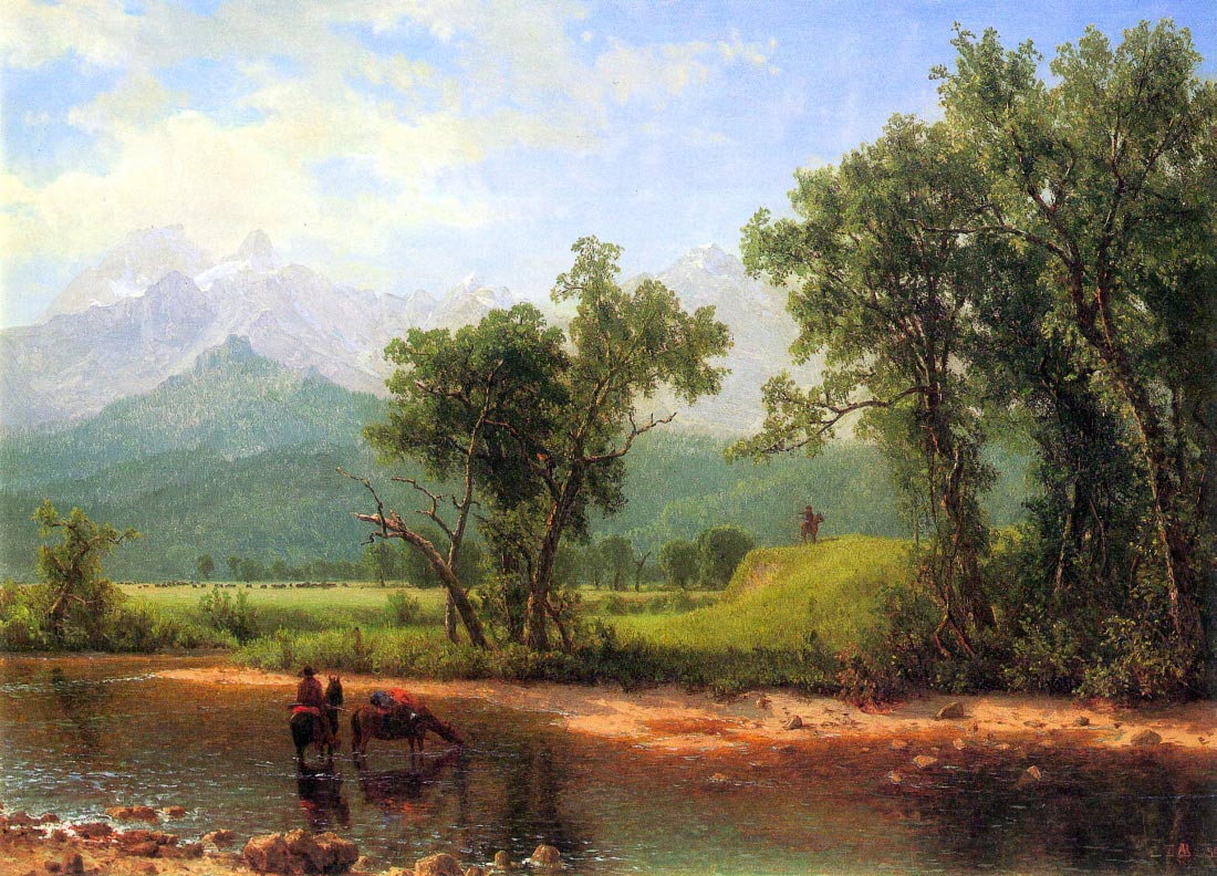 Wind River Mountains, landscape in Wyoming - Bierstadt