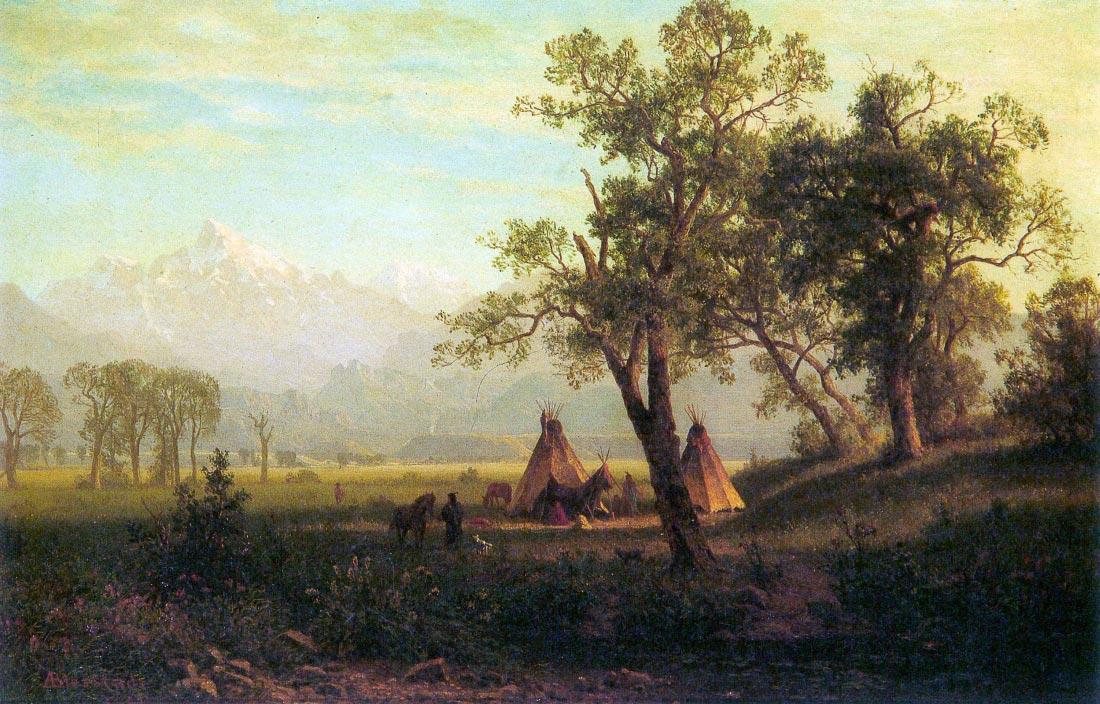 Wind River Mountains in Nebraska - Bierstadt