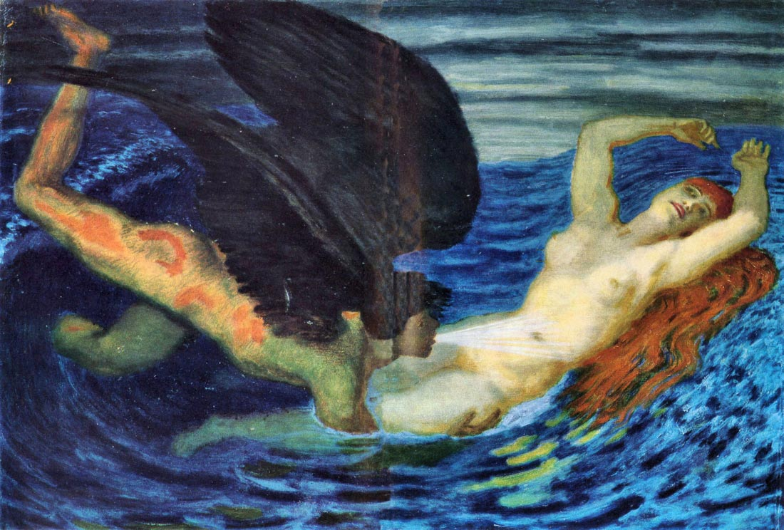 Wind and Wave - Franz von Stuck