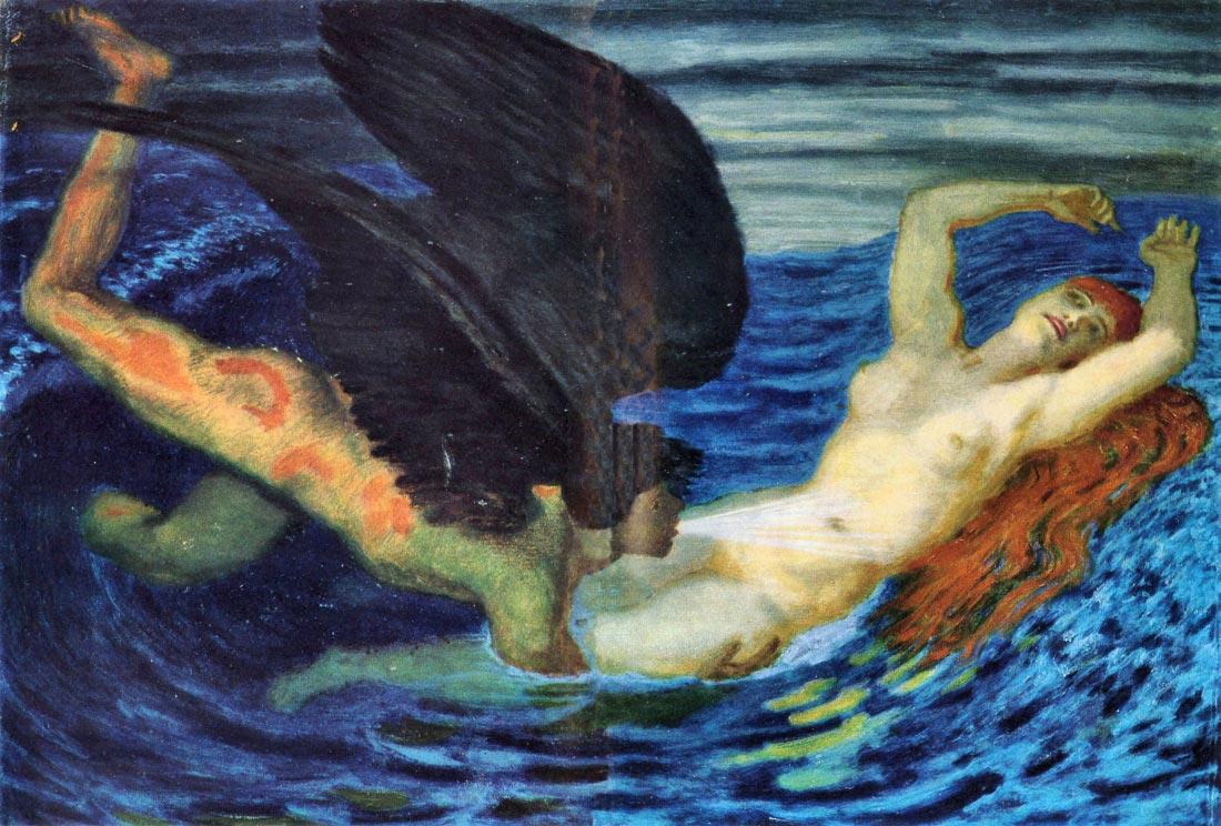 Wind and Wave - Franz von Stuck