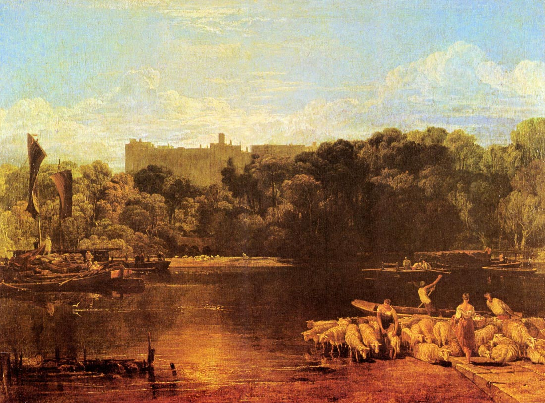 Windsor castle from the Thames - Joseph Mallord Turner