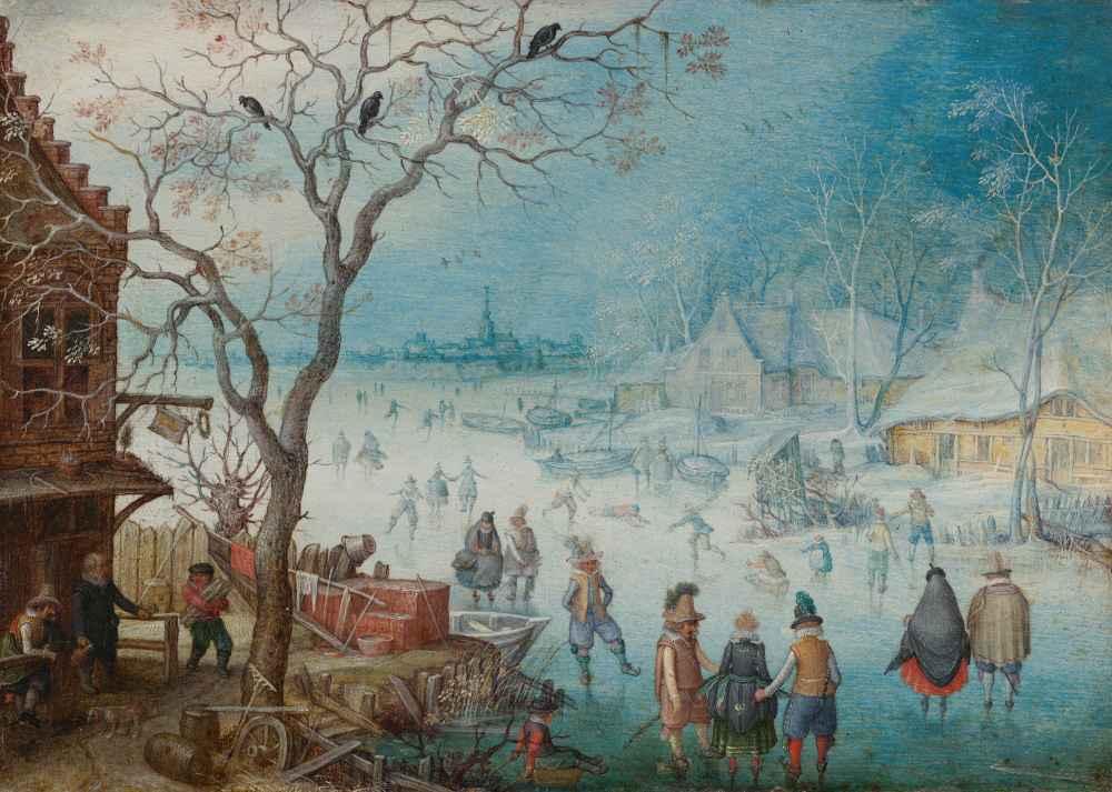 Winter Landscape, c. 1615 - 1620 - Christoffel van den Berghe