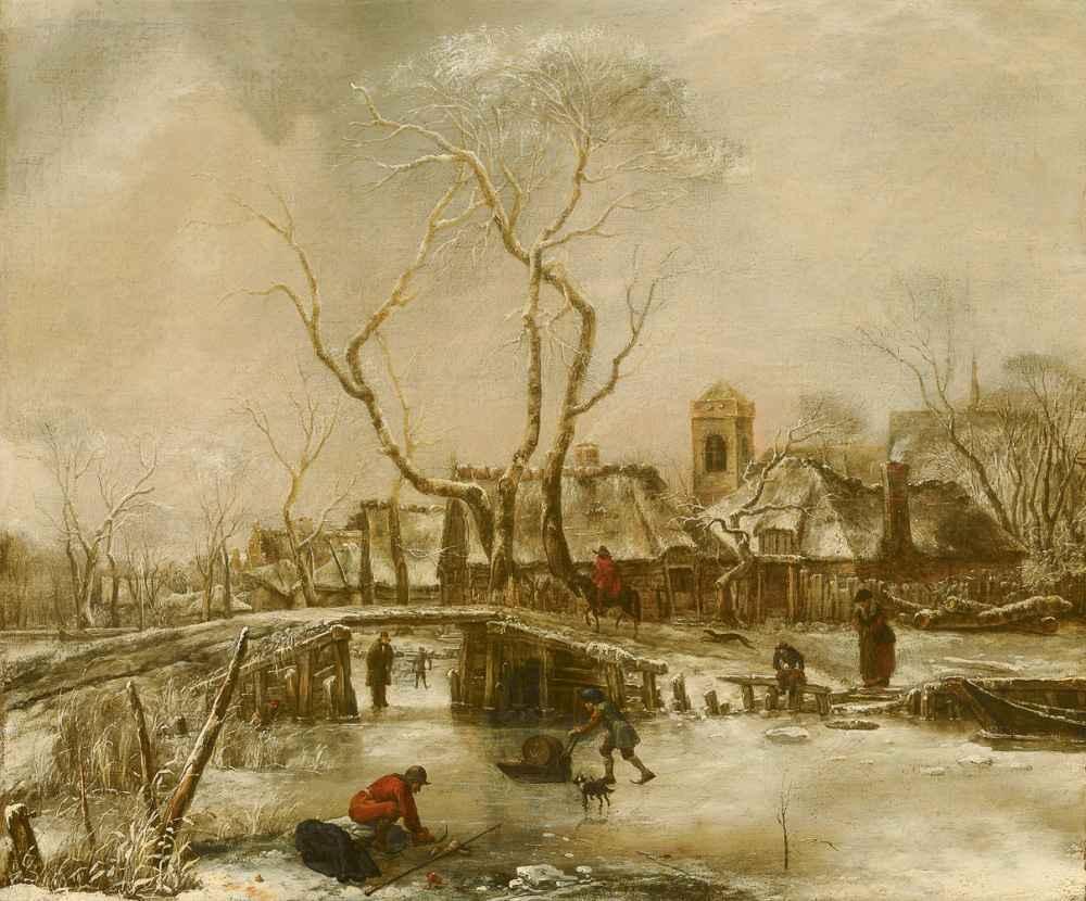 Winter Landscape - Jan van de Cappelle