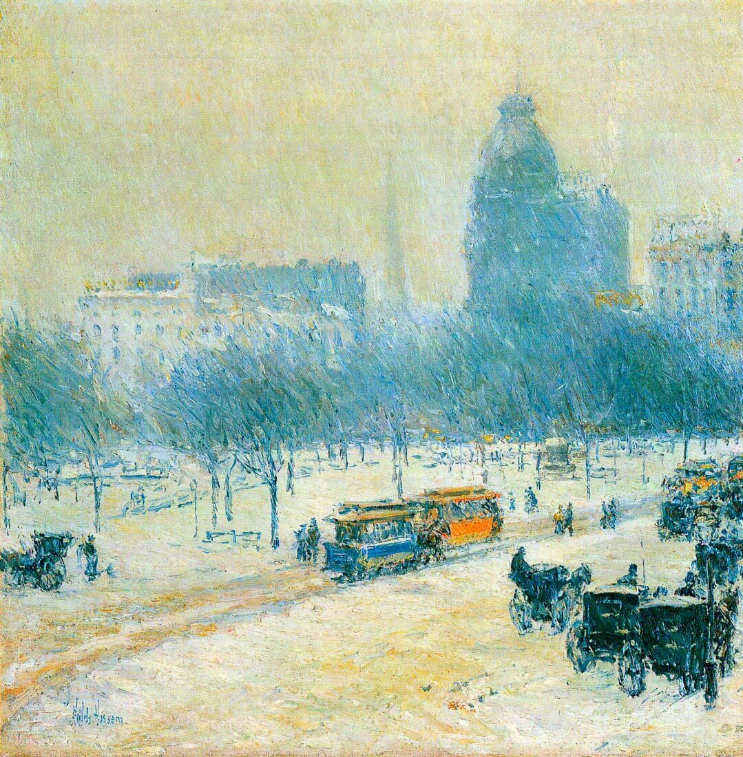 Winter in Union Square - Hassam