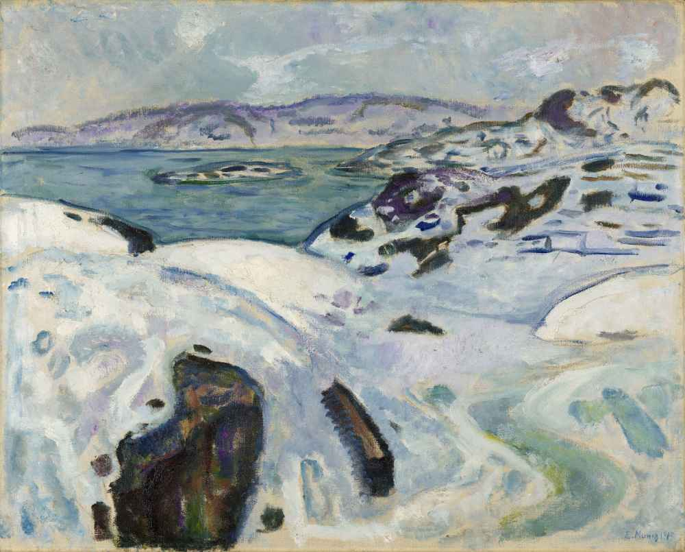 Winter on the Fiord - Edward Munch