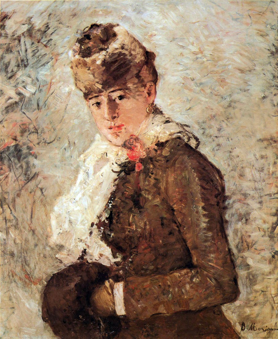 Winter woman with Muff - Morisot