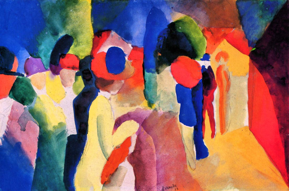 With yellow jacket - August Macke