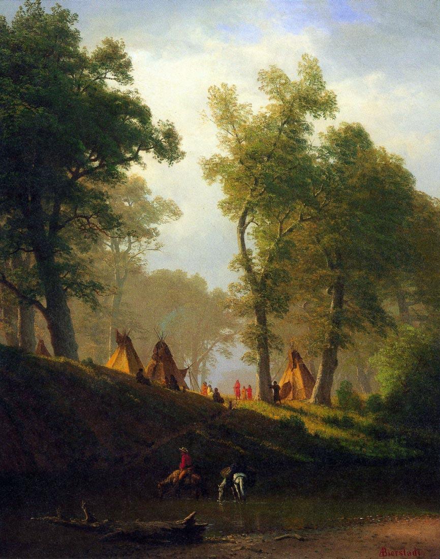 Wolf River, Kansas - Bierstadt