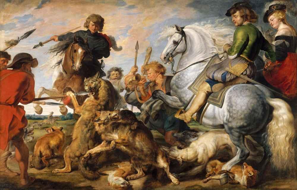 Wolf and Fox Hunt - Peter Paul Rubens