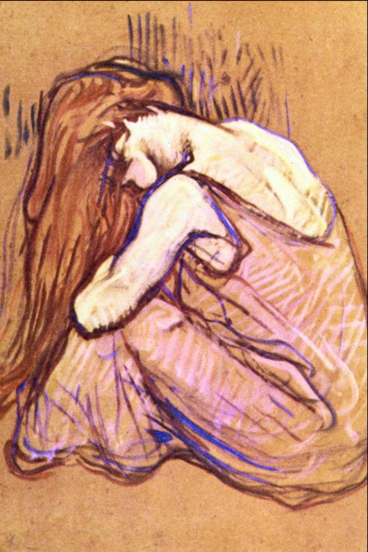 Woman Combing Hair - Toulouse-Lautrec