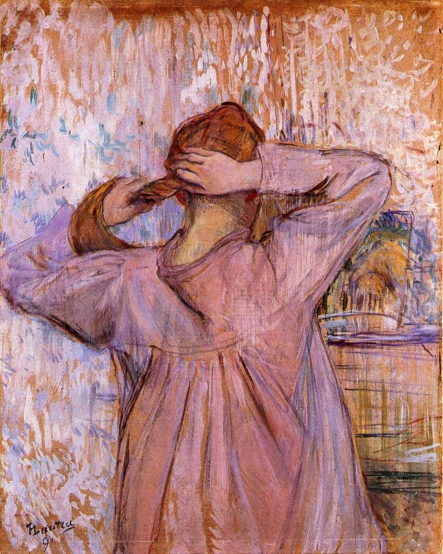 Woman Combing her hair - Toulouse-Lautrec