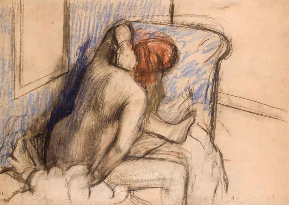Woman Drying Her Hair - Edgar Degas
